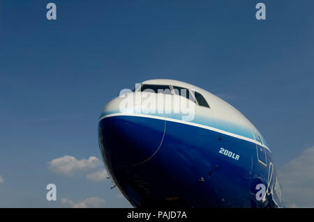 nose and windshield at the 2005 Paris AirShow, Salon-du-Bourget - Stock Photo