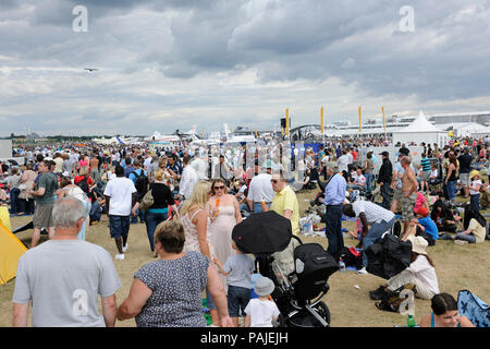 in the flying-display at the Farnborough Airshow 2010 - Stock Photo