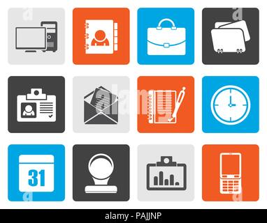 Flat Web Applications,Business and Office icons, Universal icons - vector icon set - Stock Photo