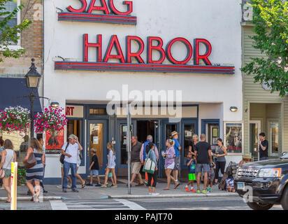 Sag Harbor Movie Theater in Sag Harbor, NY - Stock Photo