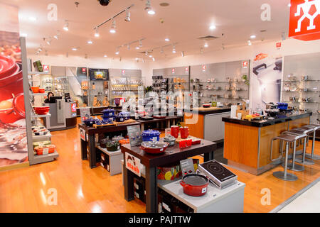 SHANGHAI, CHINA - APR 3, 2016: Interior of the New World Emporium shopping center in Shanghai, China,  located at the Nanjing Road. - Stock Photo