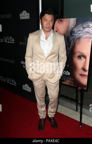 West Hollywood, Ca. 23rd July, 2018.  Chin Han, at the Los Angeles Premier of The Wife at the Pacific Design Center in West Hollywood, California on July 23, 2018. Credit: MediaPunch Inc/Alamy Live News - Stock Photo