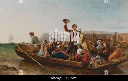 Marshall  Thomas Falcon - Emigration - the Parting Day - Stock Photo