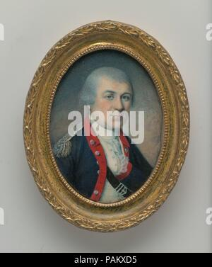 General Henry Knox. Artist: Charles Willson Peale (American, Chester, Maryland 1741-1827 Philadelphia, Pennsylvania). Dimensions: 2 7/8 x 2 1/8 in. (7.3 x 5.2 cm). Date: 1778.  The sitter (1750-1806), a Boston bookseller and artillery expert who would achieve fame in General Washington's army, was painted by Peale at Valley Forge in late May 1778, just before the Battle of Monmouth. Museum: Metropolitan Museum of Art, New York, USA. - Stock Photo