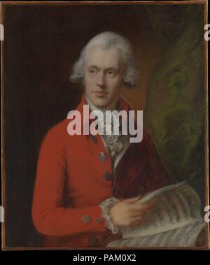 Charles Rousseau Burney (1747-1819). Artist: Thomas Gainsborough (British, Sudbury 1727-1788 London). Dimensions: 30 1/4 x 25 1/8 in. (76.8 x 63.8 cm). Date: ca. 1780.  The sitter was a nephew and pupil of the celebrated musicologist Dr. Charles Burney. In 1770 he married Dr. Burney's oldest daughter, Esther, called Hetty, whom he had known since childhood. C. R. Burney was a composer as well as a virtuoso musician. He and his wife are reported to have played brilliantly together on the harpsichord. Museum: Metropolitan Museum of Art, New York, USA. - Stock Photo