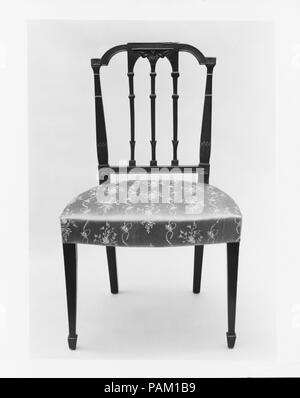 Side Chair. Culture: American. Dimensions: 37 x 21 x 18 in. (94 x 53.3 x 45.7 cm). Date: 1795-1810. Museum: Metropolitan Museum of Art, New York, USA. - Stock Photo