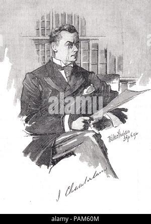 Joseph Chamberlain, 1836-1914, British statesman, radical Liberal - Stock Photo