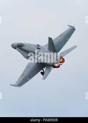 F-18 Hornet Spain - Stock Photo