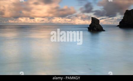 Traigh Ghearadha – Gary Beach, Isle of Lewis at Sunset - Stock Photo