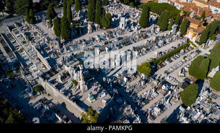 Castle Cemetery or  Cimetière du Château, Nice, France - Stock Photo