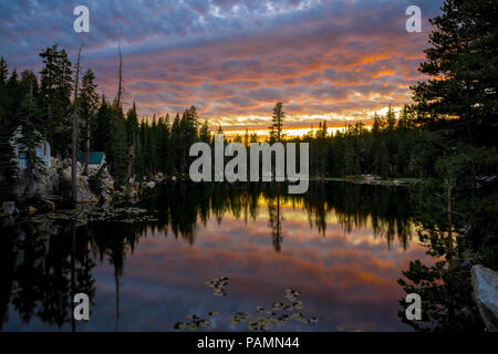 Mosquito Lakes National Forest Cabins and Campground - Pacific Grade Summit on Highway 4, California - Stock Photo