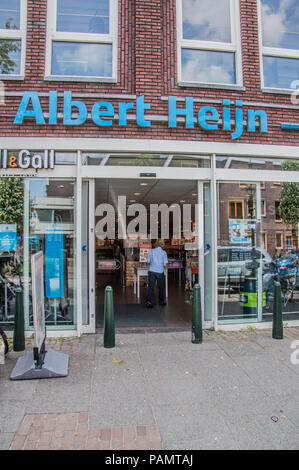 AH Supermarket At Weesp The Netherlands 2018 - Stock Photo