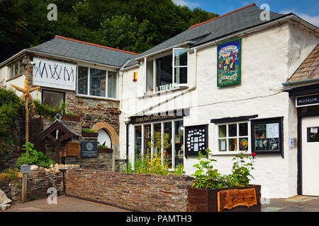 2 July 2018: Boscastle, Cornwall, UK - The Museum of Witchcraft. - Stock Photo