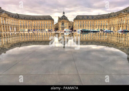 Bordeaux, Place de la Bourse France - Stock Photo