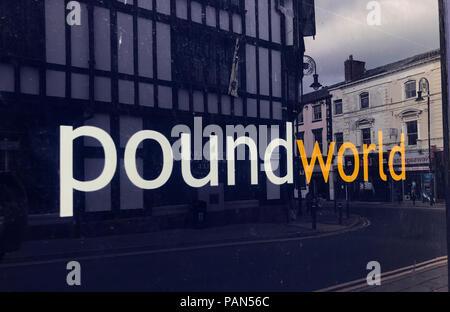 Poundworld retail store (closed) Bridge Street, Warrington, Cheshire, North West England,UK - Stock Photo