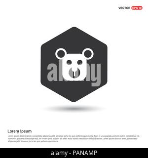 teddy bear icon hexa white background icon template free vector