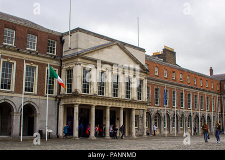 The entrance to the state apartments in the Upper Courtyard of Dublin Castle Ireland - Stock Photo