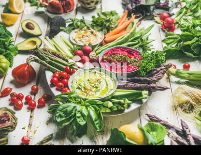 Healthy raw summer vegan snack plate for vegan party - Stock Photo