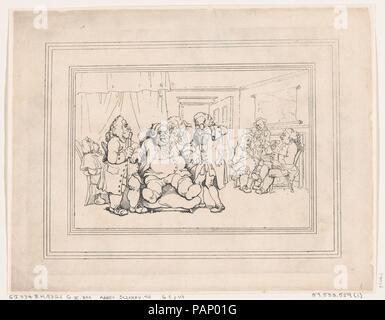 Comforts of Bath, Plate 9. Artist: Thomas Rowlandson (British, London 1757-1827 London). Dimensions: Sheet: 8 5/8 × 11 5/16 in. (21.9 × 28.7 cm)  Plate: 7 3/4 × 10 3/16 in. (19.7 × 25.8 cm). Series/Portfolio: Comforts of Bath. Date: January 6, 1798. Museum: Metropolitan Museum of Art, New York, USA. - Stock Photo