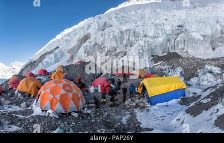 Nepal, Solo Khumbu, Everest, Sagamartha National Park, western Cwm, Camp 2 - Stock Photo