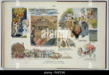 A sketch-book at Newport - Raymond Crawford Ewer Newport '04 R.I. ; drawn by Raymond C. Ewer. - Stock Photo