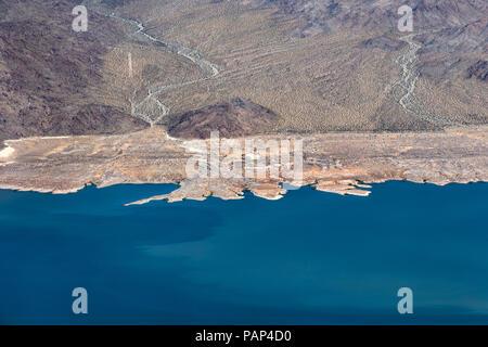 Lake Mead Desert Scene, Grand Canyon National Park, Arizona, Nevada Border, United States of America, Tuesday, May 29, 2018. - Stock Photo