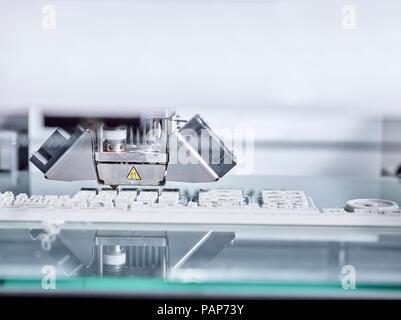 Detail of 3D printer - Stock Photo