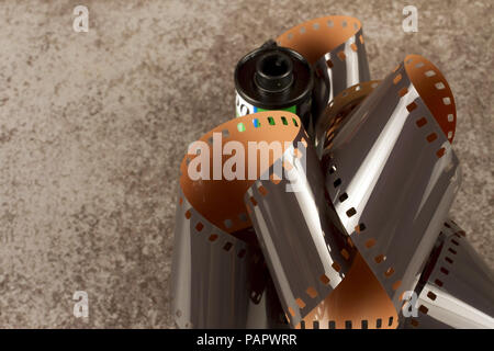 Photographic 35mm film, also known as 135 format, - Stock Photo