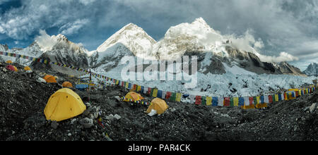 Nepal, Solo Khumbu, Everest, Sagamartha National Park, Base Camp - Stock Photo