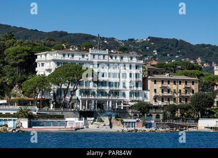 Grand Hotel Miramare, Santa Margherita Ligure, Liguria, Italy. - Stock Photo