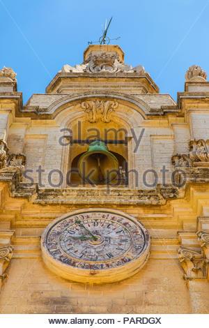 metropolitan cathedral of saint paul in mdina, malta - Stock Photo