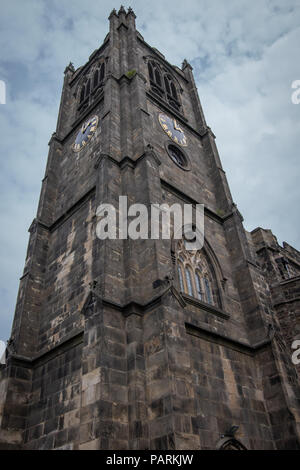 Lancaster Priory and details from the church building - Stock Photo