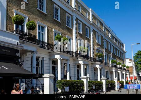Property In South Kensington, London, England - Stock Photo
