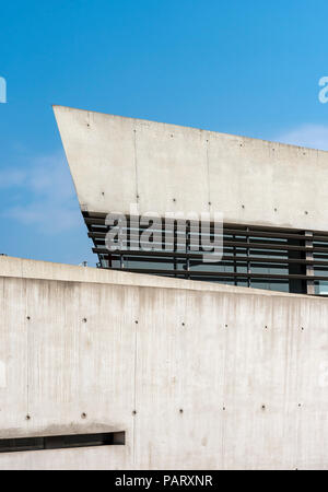 Vitra Fire Station building by Zaha Hadid in Weil am Rhein, Germany - Stock Photo