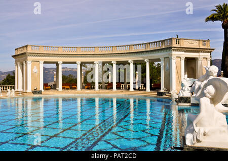 Nov. 9, 2011: Neptune Pool, the outdoor swimming pool ensemble at Hearst Castle, in San Simeon, CA. - Stock Photo