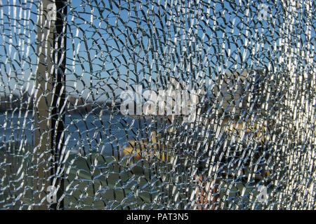Background brocken glass - Stock Photo