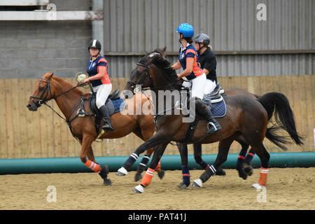 Riders playing Horseball - Stock Photo