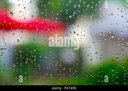 Water drops on window; - Stock Photo