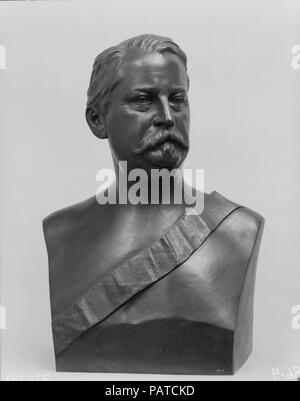 General Winfield Scott Hancock. Artist: J. Wilson Alexander MacDonald (1824-1908). Dimensions: 26 1/2 x 17 x 11 in. (67.3 x 43.2 x 27.9 cm). Date: 1880, cast ca. 1886.  Hancock (1824-1886) graduated from West Point in 1844 in the same class with Ulysses S. Grant and Stonewall Jackson. He won lasting fame as one of the great Civil War soldiers for his part in the Union victory at Gettysburg in 1863. In 1880 Hancock was nominated as the Democratic candidate for president, but was narrowly defeated by James A. Garfield. That year MacDonald took a life mask of Hancock and, using it as a model, cre - Stock Photo