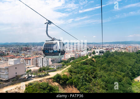 The Dajti Ekspres cableway which carries passengers up to Mount Dajti National Park on the edge of Tirana, Albania, - Stock Photo