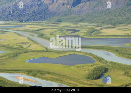 The Beauty of Northern Sweden  - Rapaätno delta. Sarek, Norrbotten, Sweden.