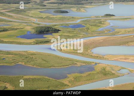 The Beauty of Northern Sweden  - Rapaätno delta (remastered). Rapaätno delta, Sarek, Northern Sweden. 30.6.2009. - Stock Photo