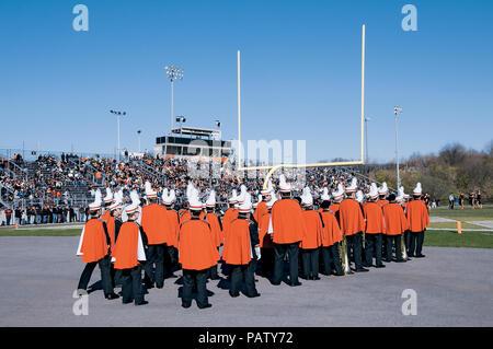 Northampton Konkrete Kids Marching Band at Football Game - Stock Photo