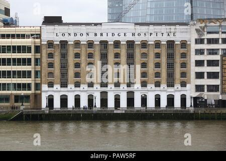 LONDON, UK - APRIL 22, 2016: London Bridge Hospital in the UK. It is a private hospital operated by Hospital Corporation of America. - Stock Photo