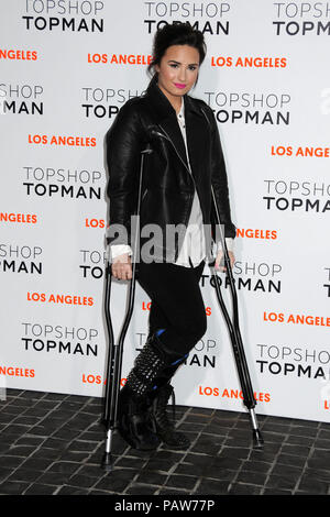 West Hollywood, CA, USA. 13th Feb, 2013. 24 July 2018 - Singer Demi Lovato has been hospitalized after suffering an apparent drug overdose. File Photo: 13 February 2013 - West Hollywood, California - Demi Lovato. Topshop Topman LA Opening Party held at Cecconi?s. Photo Credit: Byron Purvis/AdMedia Credit: Byron Purvis/AdMedia/ZUMA Wire/Alamy Live News - Stock Photo
