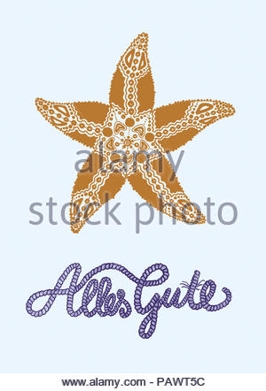 Starfish All The Best Series Greeting Cards Stock Photo 213336329