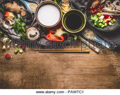 High angle view of vegetables on a table - Stock Photo
