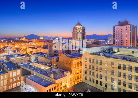 Roanoke, Virginia, USA downtown skyline at dawn. - Stock Photo