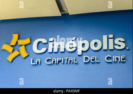 ACAPULCO, MEXICO - OCT 29, 2016: Cinepolis of the Galerias DIana Commercial centre. It's located on  the av. Costera Miguel Aleman - Stock Photo