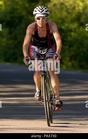 HVTC Summer Tri Series Race #2 - Stock Photo
